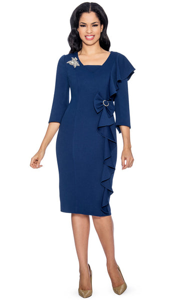 Giovanna Navy Dress D1495 Spring 2019