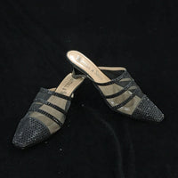 Whittall & Shon Peek-A-Boo Chic Crystals and Illusion Mesh Comfort Slides