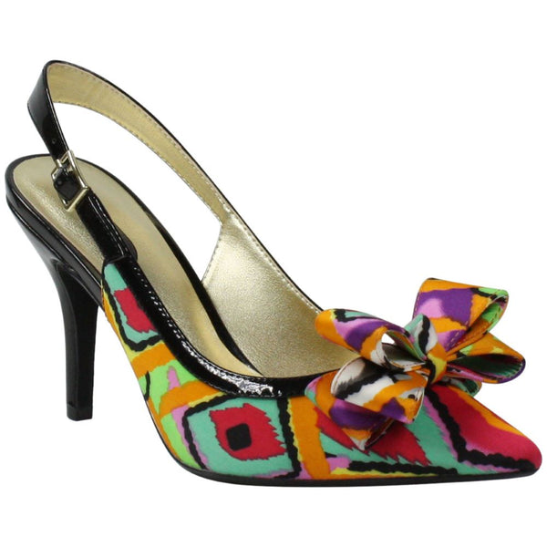 J.Renee' Black Red Orange Retro Multi Cingia Slingback Spring 2020