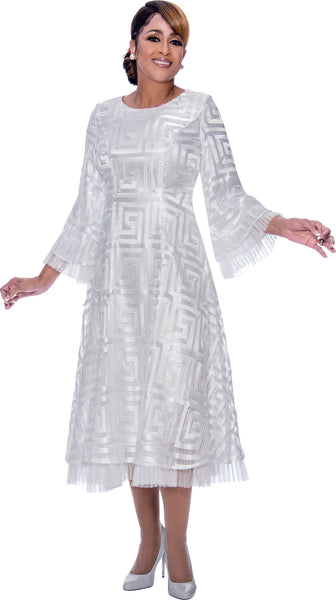 Dorinda Clark Cole White Dress DCC2171 Spring 2020