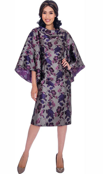 Nubiano Purple Dress DN2851 Markdown 2019