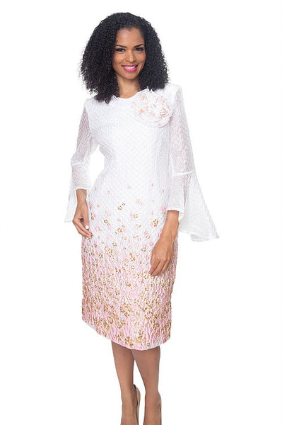 Diana White and Pink Dress 8503 Markdown 2019
