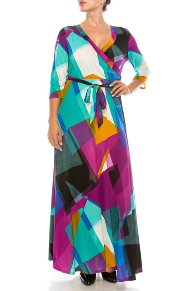 Janette Purple Maxi Wrap Dress DJ51504-RMN-P Spring 2020