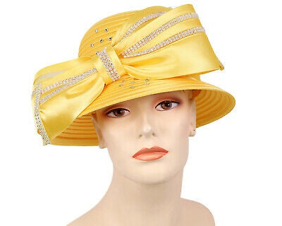Mr Hi Yellow Fashion Hat 43-HL132 Spring 2020