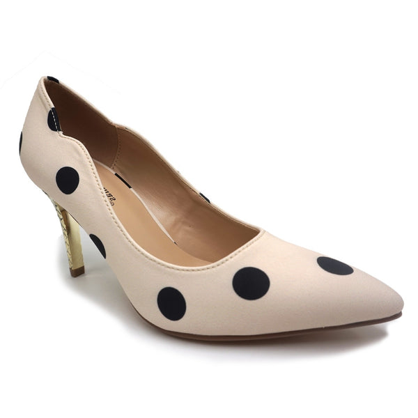 Pierre Dumas Nude with Black Polka Dot Pump 87831 - Dimas - 6 Fall 2020