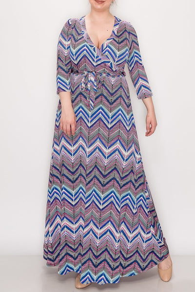 Janette Blue Violet Maxi Wrap Dress DJ51504-CVL-P Spring 2020