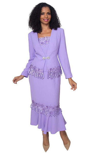 Diana Lavender 3pc Suit 8426 Fall 2019