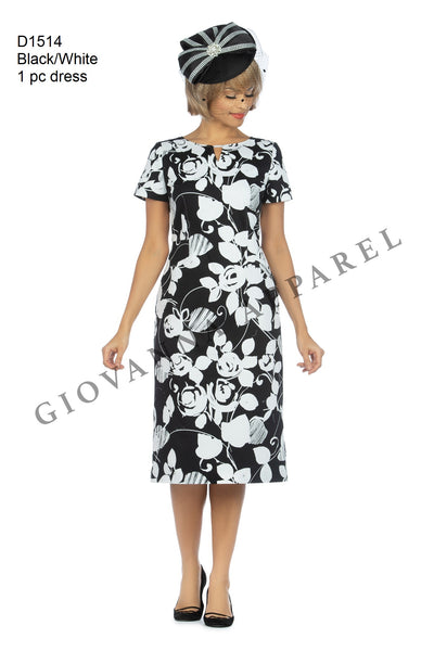 Giovanna Black & White 1pc Dress D1514 Spring 2020