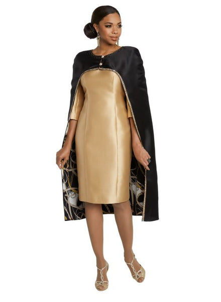 Donna Vinci Black & Gold Jacket Dress 11802 Markdown 2019