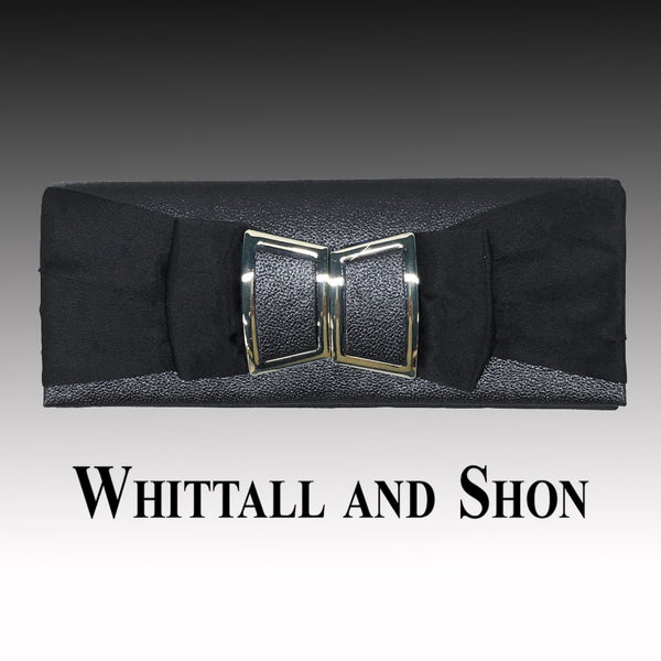 Whittall & Shon Black Matching TWIGGY Modern Style  Handbag P138 Fall 2019