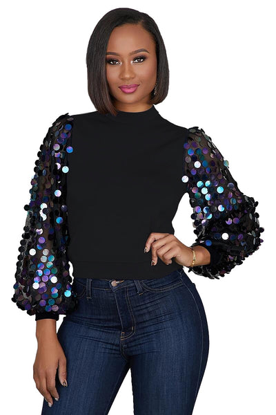 Black Sequin Top lwz-836t Fall 2020