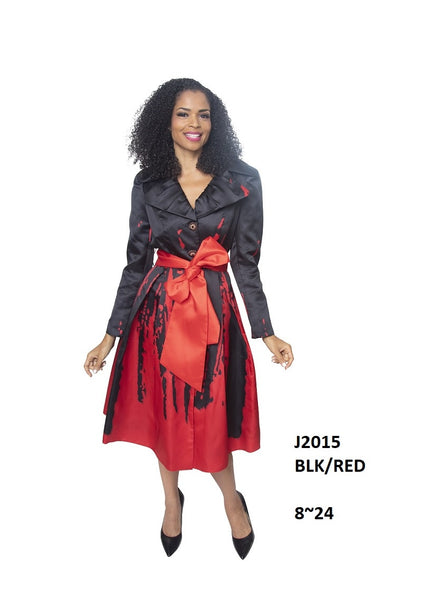 Diana Black & Red Silky Twill Dress J2015 Holiday 2019