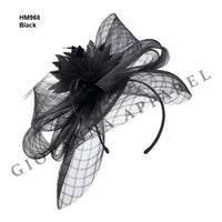 Giovanna Black HM968 Fascinator Hat Spring 2020