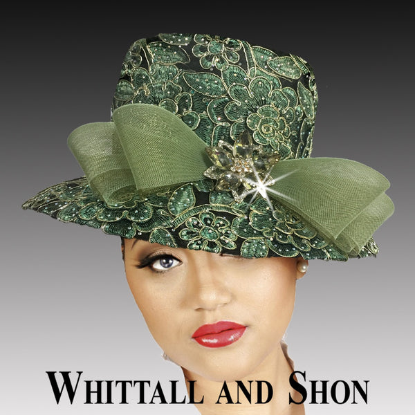 Whittall & Shon Sage Embroidered and Jewel Lace Bucket Hat 2519 MASON Fall 2019