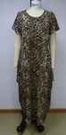 CHH-20002 Cheetah Print Plus Size One Size Spandex Knitted Balloon Long Dress with Pockets Spring 2020