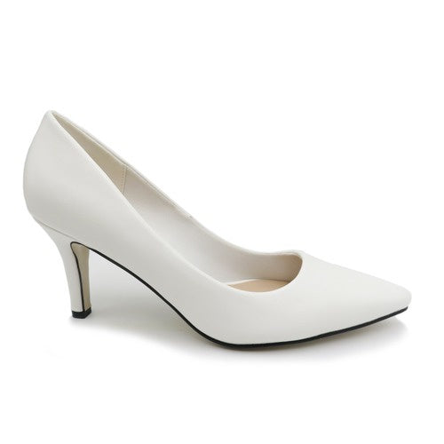 Pierre Dumas White Pump Shoe 86689 - BLOOM-1 Spring 2020
