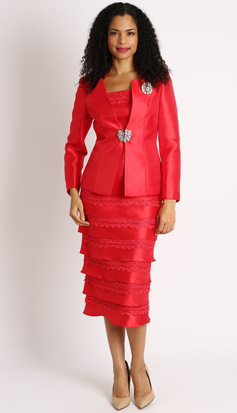 Diana 3Pc Red Suit 8139 Markdown 2019