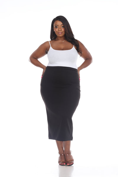Perspective Black Pencil Skirt S001 Basic 2020