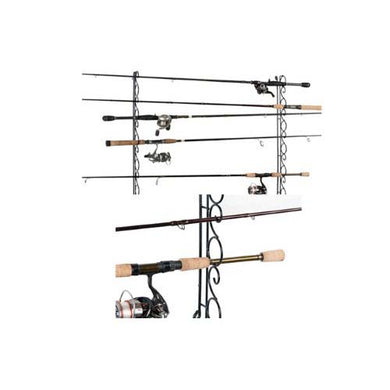 Organized Fishing 9 Cpcty Horzntal Wire Ceiling Rack WHR-009