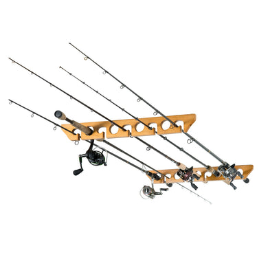 Organized Fishing 9 Cpcty Ceiling Horizontal Rod Rack