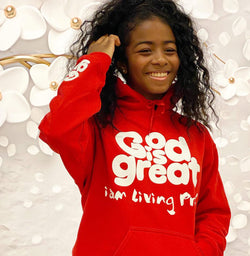GIG APPAREL - Unisex  Red & White Hoodie