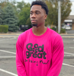 GiG Apparel -CYBER Pink UNISEX Long Sleeve Tee