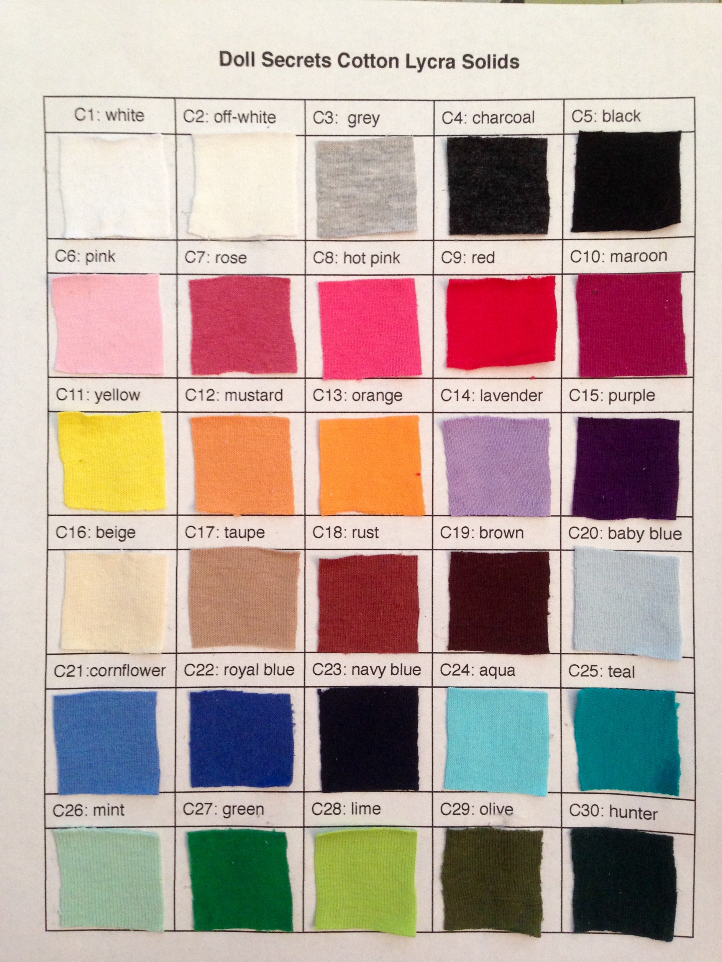 Cotton Lycra Solid Fabrics