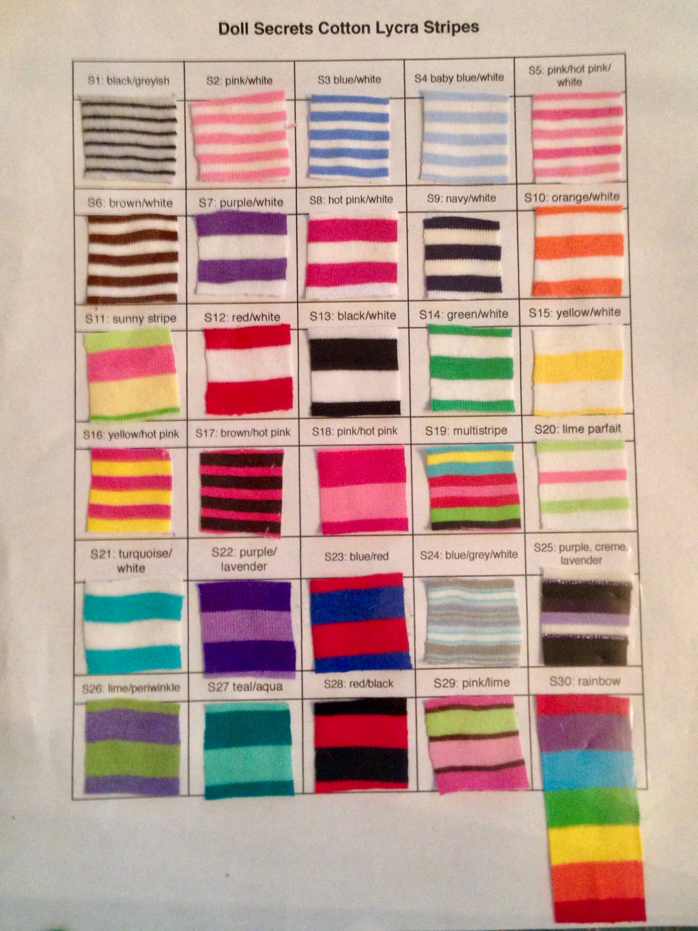 Cotton Lycra Striped Fabrics