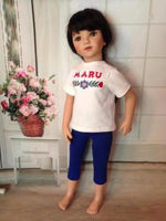 "20"" Maru Embroidered T & Capris"