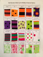 Cotton Lycra Holiday Fabric Chart