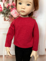 "13"" Effner Little Darling Solid Color Long Sleeve T-shirt"