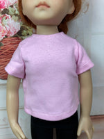 "13"" Effner Little Darling Solid Color Short Sleeve T-shirt"