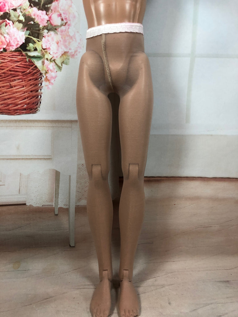 "Matte nude Protective tights for 17"" Matt or Trent"