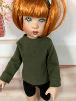 "10"" Kish Bitty Bethany Solid Color Long Sleeve T-shirt"
