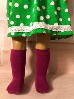 "18"" American Girl Solid Color Knee Socks"