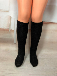 "17"" Crissy Solid Color Knee Socks"