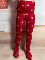 "Valentine Tights for 13"" Effner Little Darling Doll"