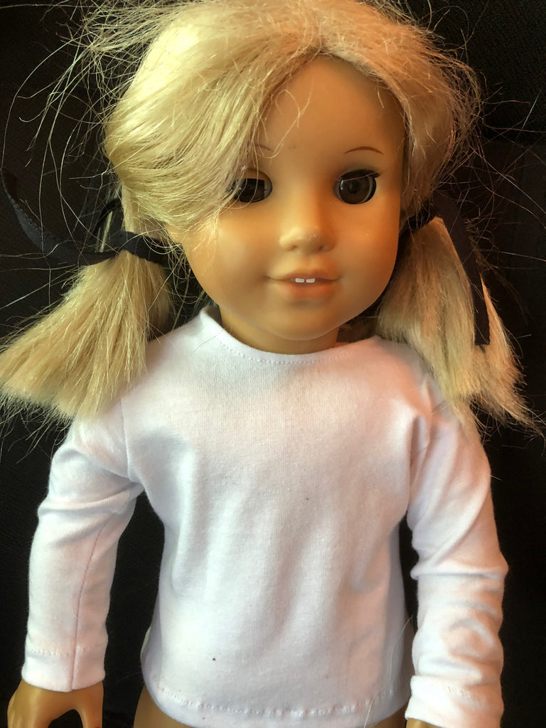 "18"" American Girl Solid Color Long Sleeve T-shirt"