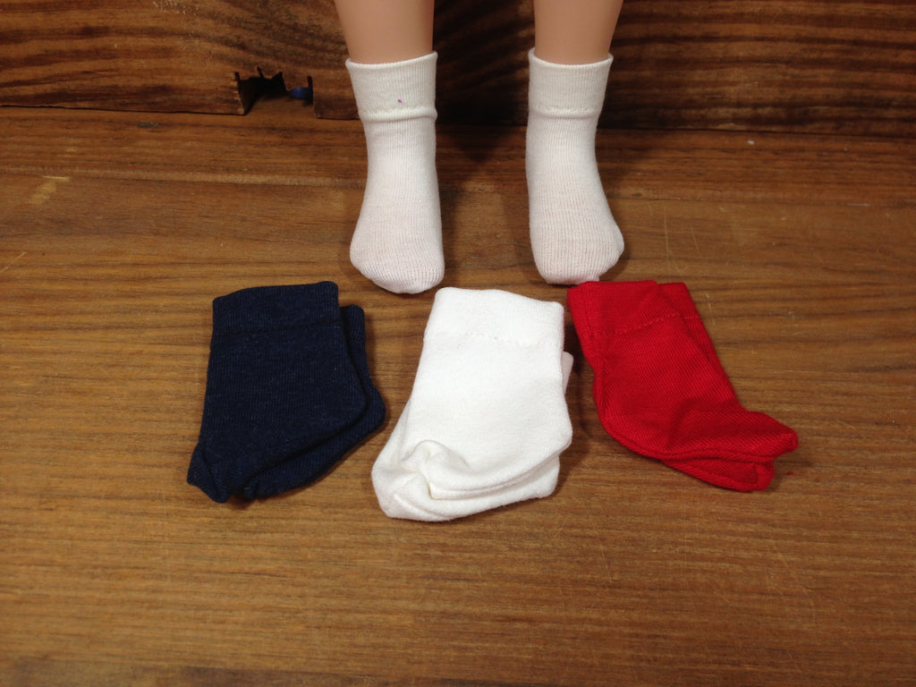"20"" Maru Solid Color Ankle socks"