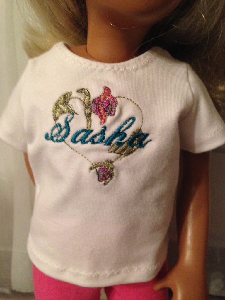 "16"" Sasha Embroidered Personalized Shirt"