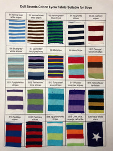 Boy Fabric Selection Chart