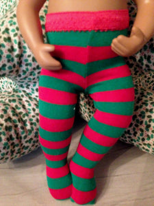 "15"" Bitty Baby Print Tights"