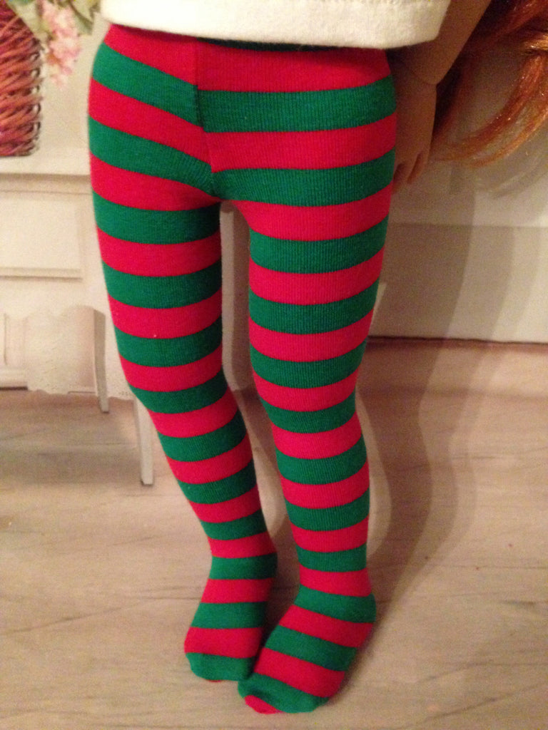 "18"" Kidz n Cats Christmas Tights"