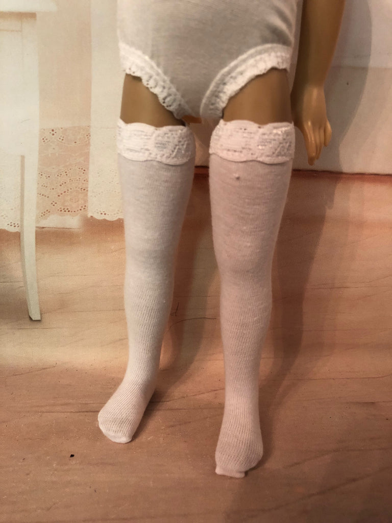 "13"" Effner Little Darling Solid Color Tall Thigh High Socks"
