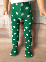 "Christmas Tights for 14"" American Girl Wellie Wishers Doll"