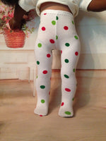"18"" American Girl Christmas Tights"