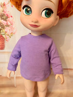 "16"" Disney Animator Solid Color Long Sleeve T-shirt"