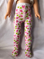 "Valentine Tights for 14"" Wellie Wishers doll"