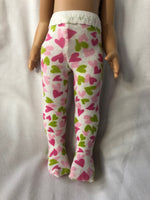 "Valentine Tights for 10"" Patsy or Ann Estelle Doll"