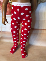 "Valentine Tights for 16"" Sasha or a Girl for All Time"
